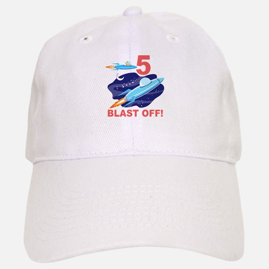 Outer Space 5th Birthday Baseball Baseball Cap
