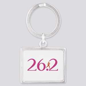 26.2 Marathon Run Like A Girl Landscape Keychain