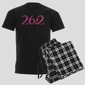 26.2 Marathon Run Like A Girl Men's Dark Pajamas