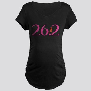 26.2 Marathon Run Like A Girl Maternity Dark T-Shi