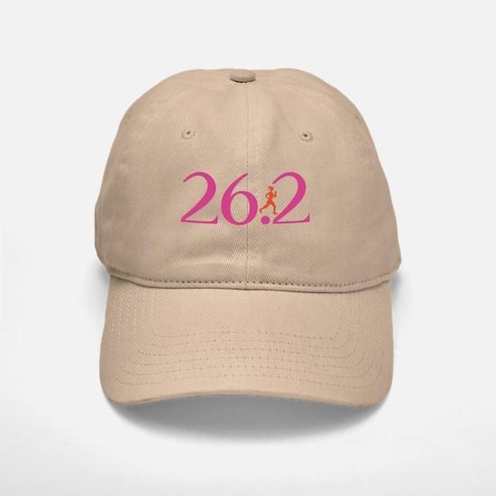 26.2 Marathon Run Like A Girl Baseball Baseball Cap