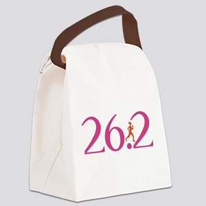 26.2 Marathon Run Like A Girl Canvas Lunch Bag