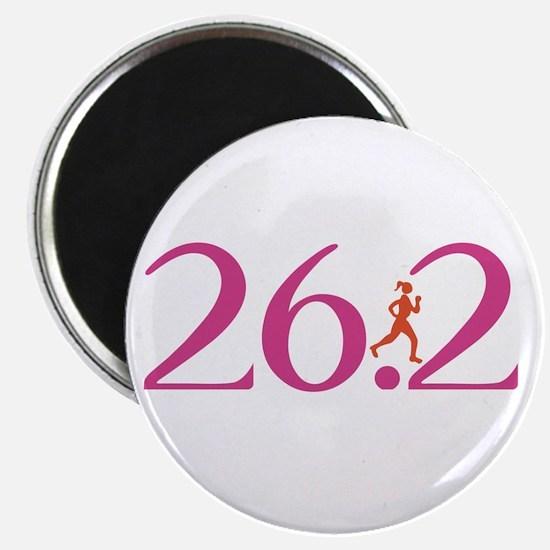 26.2 Marathon Run Like A Girl Magnet