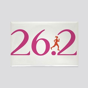 26.2 Marathon Run Like A Girl Rectangle Magnet