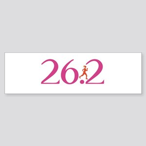 26.2 Marathon Run Like A Girl Sticker (Bumper)