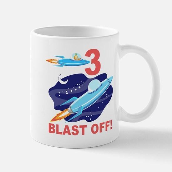 Outer Space 3rd Birthday Mug