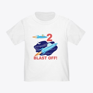 Outer Space 2nd Birthday Toddler T-Shirt