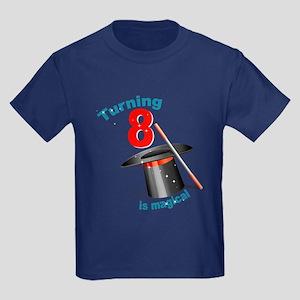 Magic Party 8th Birthday Kids Dark T-Shirt