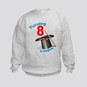 Magic Party 8th Birthday Kids Sweatshirt