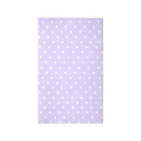 Lilac Polka Dot 3 X5 Area Rug By Inspirationz