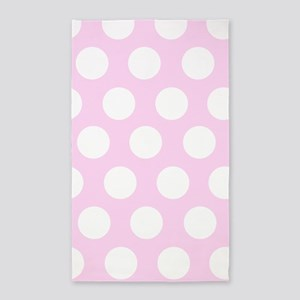 Pink Large Polka dot 3'x5' Area Rug