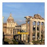 "Rome Square Car Magnet 3"" x 3"""