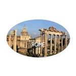 Rome Oval Car Magnet