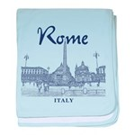 Rome baby blanket