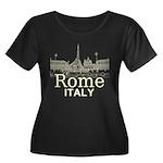 Rome Women's Plus Size Scoop Neck Dark T-Shirt