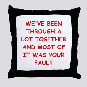 blame Throw Pillow