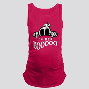 Halloween I'm Her Boo Maternity Tank Top