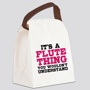 It's a Flute Thing Canvas Lunch Bag