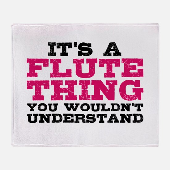 It's a Flute Thing Throw Blanket