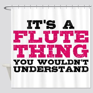 It's a Flute Thing Shower Curtain