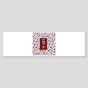 Silver Star Bumper Sticker