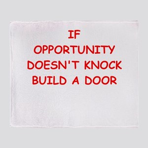 opportunity Throw Blanket