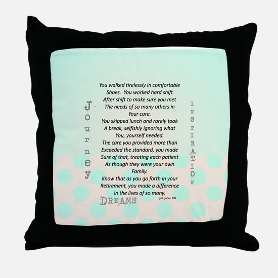 Retired Nurse Poem Throw Pillow