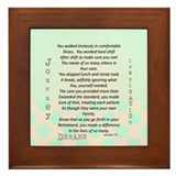 Retired nurse poem Framed Tiles