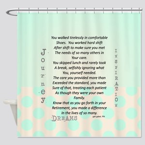Retired Nurse Poem Shower Curtain