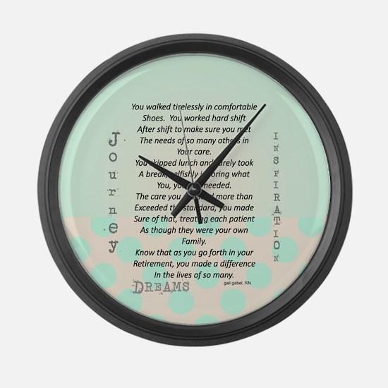 Retired Nurse Poem Large Wall Clock