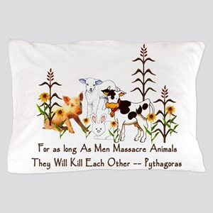 Pythagoras Vegetarian Quote Pillow Case