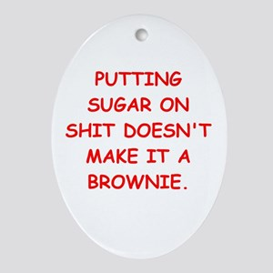 BROWNIES Ornament (Oval)