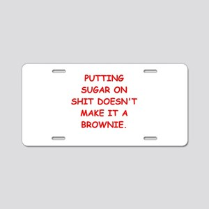 BROWNIES Aluminum License Plate