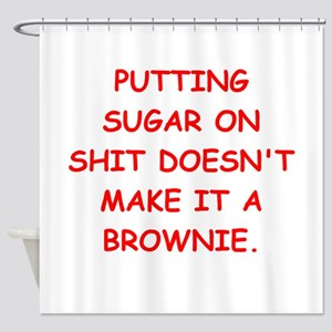 BROWNIES Shower Curtain