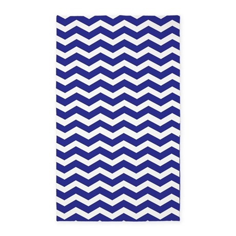 navy blue and white chevron 3 39 x5 39 area rug by inspirationzstore. Black Bedroom Furniture Sets. Home Design Ideas