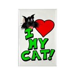 "I Love My ""Black"" Cat Magnet"