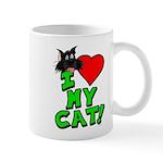 "I Love My ""Black"" Cat Mug"