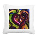Holding Hearts Canvas Pillow