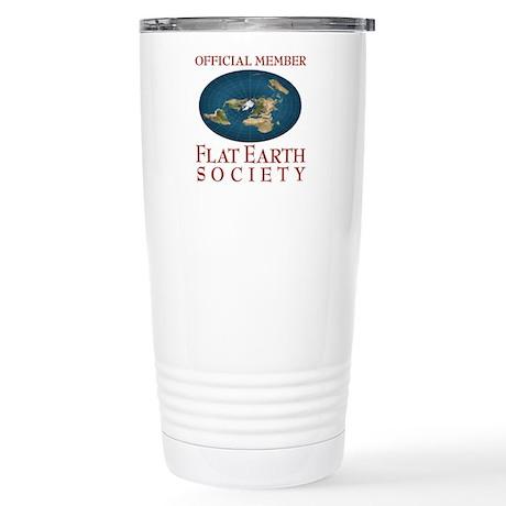 Flat Earth Society - Stainless Steel Travel Mug