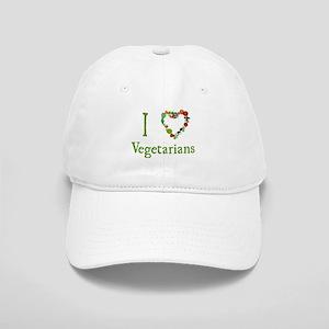 I Love Vegetarians Cap