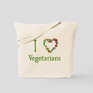 I Love Vegetarians Tote Bag