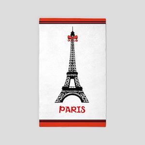 Eiffel tower 3'x5' Area Rug