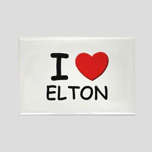 I love Elton Rectangle Magnet