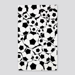 Soccer ball pattern 3'x5' Area Rug