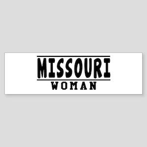 Missouri Woman Designs Sticker (Bumper)