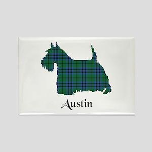 Terrier - Austin Rectangle Magnet