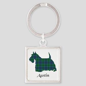 Terrier - Austin Square Keychain