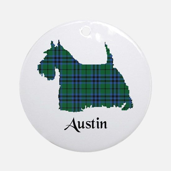 Terrier - Austin Ornament (Round)