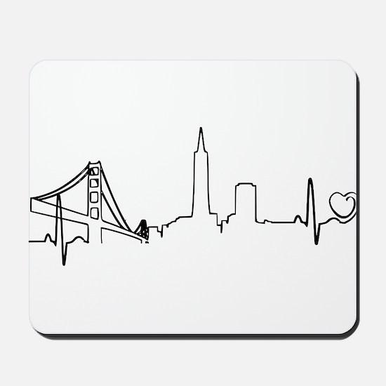 San Francisco Heartbeat (Heart) Mousepad