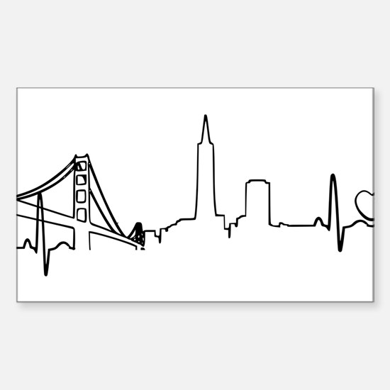 San Francisco Heartbeat (Heart) Decal